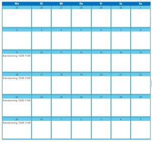 Kalender - Ansicht